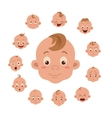 Baby facial expression vector image vector image