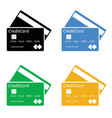 bank credit card template vector image