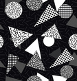 Black and white retro pattern with geometric shape vector image vector image