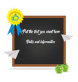 blackboard high quality vector image vector image