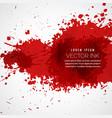 blood splatter stain background vector image vector image