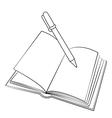 Book Pen vector image