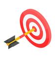 bulleye shot icon isometric style vector image vector image