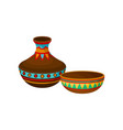 ceramic vase and bowl authentic symbol of africa vector image vector image