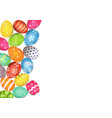 colorful easter egg side border vector image vector image
