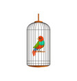 creative of little parrot in metal vector image vector image