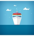 Cruise ship at sea or in the ocean in a sunny day vector image vector image