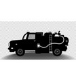 detailed silhouette fuel carrier truck vector image