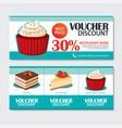 discount voucher set dessert template design vector image vector image