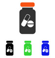 drugs phial flat icon vector image vector image