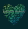 engaging content heart colored linear vector image