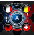 European Flag Buttons A vector image vector image