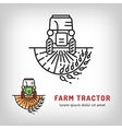Farm tractor icon art line style Farmers market vector image vector image