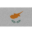 Flags Cyprus on denim texture vector image vector image