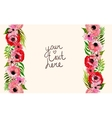 floral border with pink flowers vector image vector image