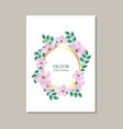 floral of tender romantic card vector image vector image