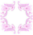 flower decoration frame with jewelry design vector image vector image