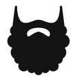 fluffy beard icon simple style vector image vector image