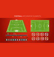 football infographic elements soccer match vector image