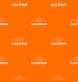 global network pattern orange vector image vector image