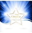 Golden christmas star vector | Price: 1 Credit (USD $1)