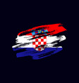 grunge textured croatian flag vector image vector image