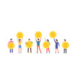 happy people are holding coins vector image vector image
