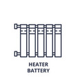 heater battery line icon concept heater battery vector image vector image