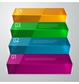 infographics glass staircase vector image