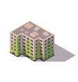 isometric high rise building city or town vector image