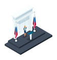 isometry is a woman candidate for presidency vector image vector image