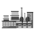 Large production plant icon gray monochrome style vector image vector image