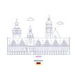 leipzig city skyline vector image vector image