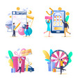 lottery gambling icon set isolated vector image