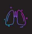 lungs icon design vector image vector image