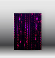 matrix style binary background poster and vector image vector image