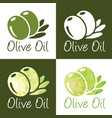 olive oil icons vector image vector image
