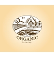 Organic farming design element vector image vector image