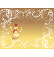 Ornate background with snowman vector | Price: 1 Credit (USD $1)