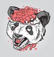 panda zombies vector image