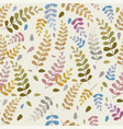 pattern leaves seamless background of a branch vector image vector image