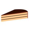 piece of birthday cake icon vector image vector image