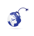 planet bomb blue vector image vector image