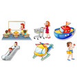 random stickers with transportable vehicle objects vector image vector image