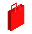 red paper bag icon isometric style vector image