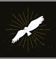 retro eagle silhouette logo vector image vector image
