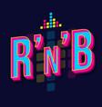 rnb vintage 3d lettering retro bold font typeface vector image