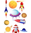Rocket and space shuttle vector | Price: 1 Credit (USD $1)