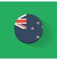round icon with flag new zealand vector image vector image