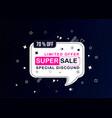 sale banner template designbig sale special offer vector image vector image